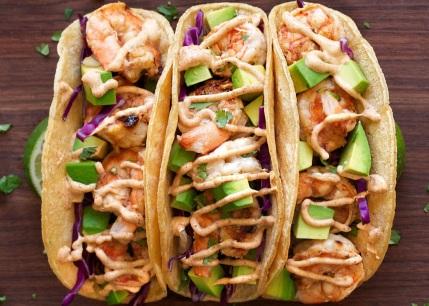 Baja Style Shimp Tacos